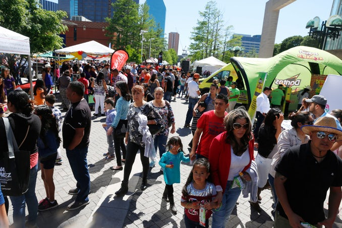 Latino Street Fest in the Dallas Arts District Sunday April 23, 2017.