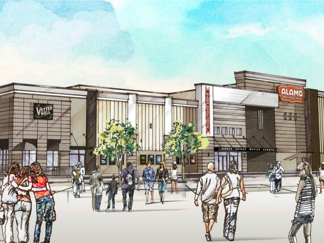 Rendering of Alamo Drafthouse North Richland Hills, scheduled to open in April 2019. Image courtesy of Alamo Drafthouse DFW
