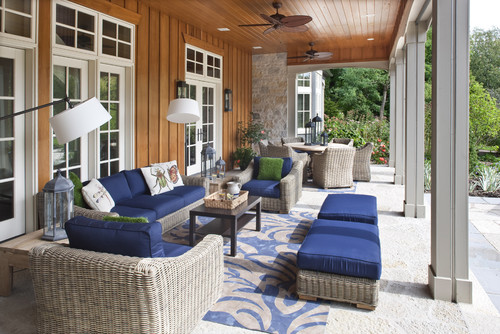 Traditional Porch Photo by Johnson Design Inc.