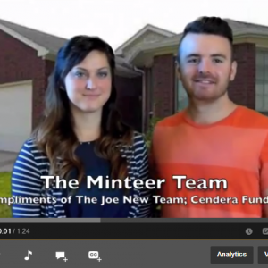 Video Testimony- First Time Homebuyers