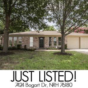 7424 Bogart Dr | Just Listed in NRH