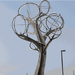 New Southlake Sculpture Installed
